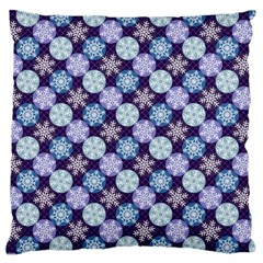 Snowflakes Pattern Large Cushion Case (One Side)