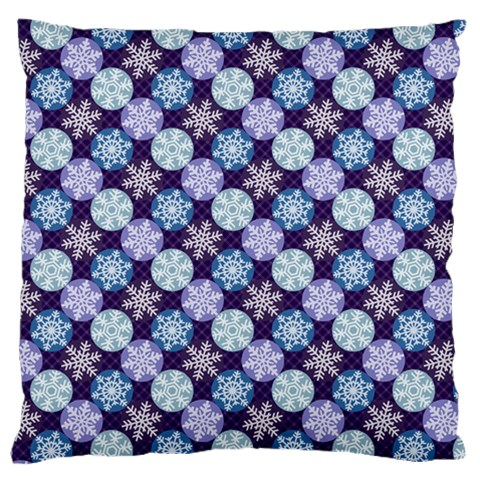 Snowflakes Pattern Large Cushion Case (Two Sides)