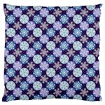 Snowflakes Pattern Large Cushion Case (Two Sides) Front