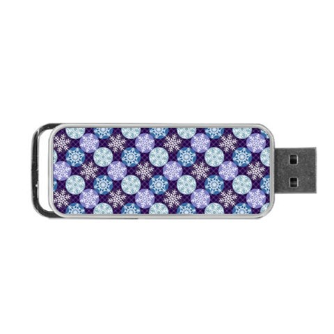 Snowflakes Pattern Portable USB Flash (Two Sides)
