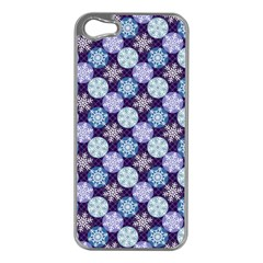 Snowflakes Pattern Apple iPhone 5 Case (Silver)