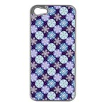 Snowflakes Pattern Apple iPhone 5 Case (Silver) Front