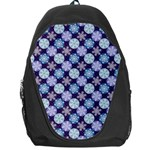 Snowflakes Pattern Backpack Bag Front