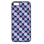 Snowflakes Pattern Apple iPhone 5 Seamless Case (Black) Front