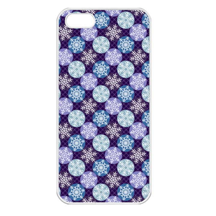 Snowflakes Pattern Apple iPhone 5 Seamless Case (White)
