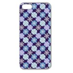Snowflakes Pattern Apple Seamless iPhone 5 Case (Clear) Front