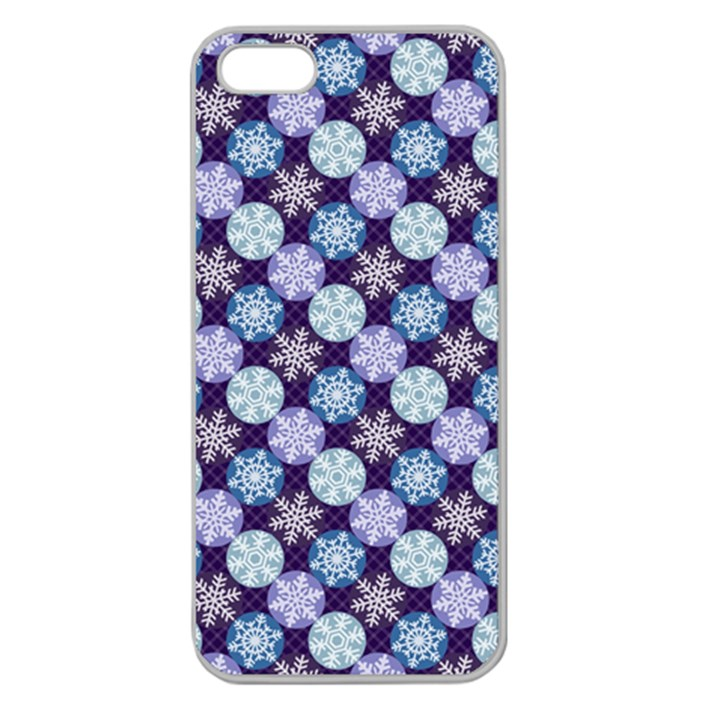 Snowflakes Pattern Apple Seamless iPhone 5 Case (Clear)