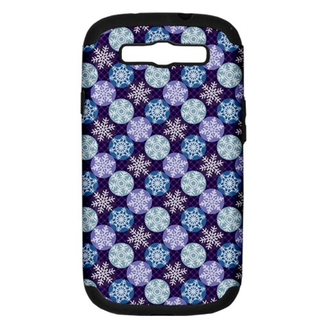 Snowflakes Pattern Samsung Galaxy S III Hardshell Case (PC+Silicone)