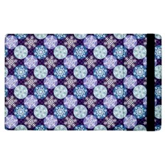 Snowflakes Pattern Apple Ipad 3/4 Flip Case