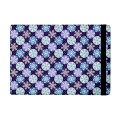 Snowflakes Pattern Apple iPad Mini Flip Case