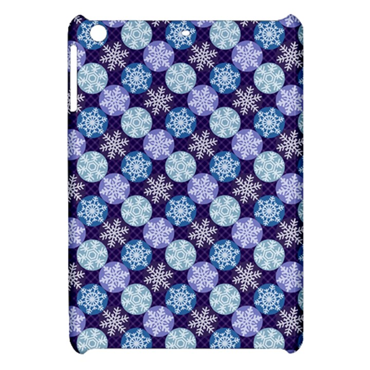 Snowflakes Pattern Apple iPad Mini Hardshell Case