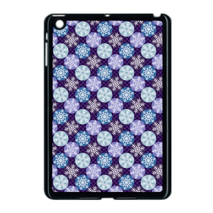 Snowflakes Pattern Apple iPad Mini Case (Black)