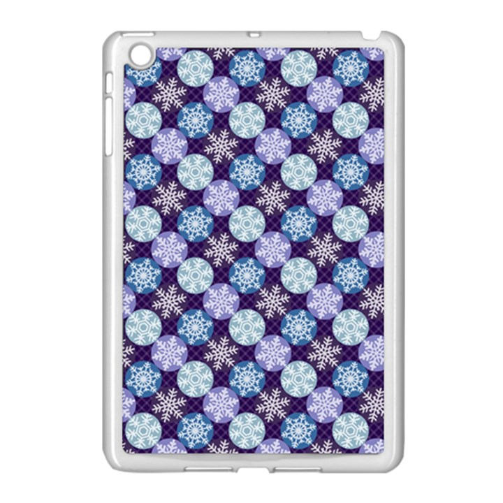 Snowflakes Pattern Apple iPad Mini Case (White)