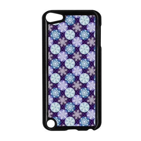 Snowflakes Pattern Apple iPod Touch 5 Case (Black)