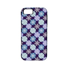 Snowflakes Pattern Apple Iphone 5 Classic Hardshell Case (pc+silicone)