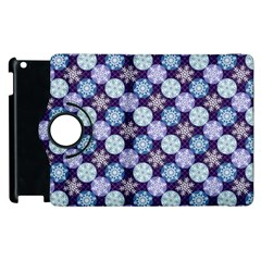 Snowflakes Pattern Apple Ipad 3/4 Flip 360 Case