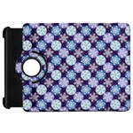 Snowflakes Pattern Kindle Fire HD Flip 360 Case Front