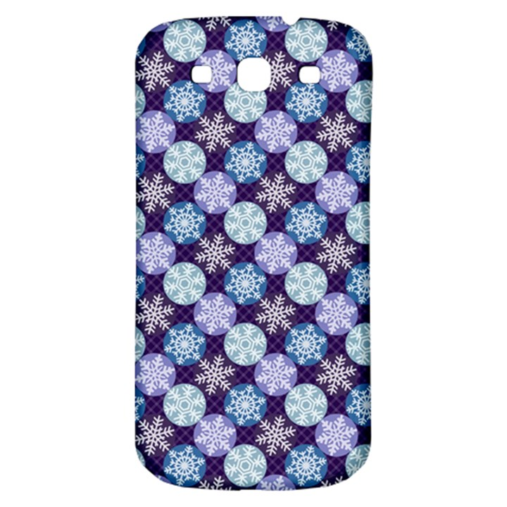 Snowflakes Pattern Samsung Galaxy S3 S III Classic Hardshell Back Case