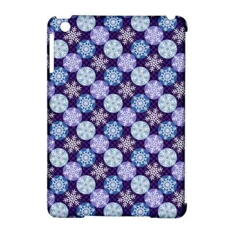 Snowflakes Pattern Apple iPad Mini Hardshell Case (Compatible with Smart Cover)