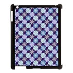 Snowflakes Pattern Apple iPad 3/4 Case (Black) Front