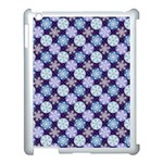 Snowflakes Pattern Apple iPad 3/4 Case (White) Front