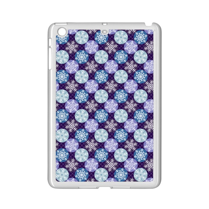 Snowflakes Pattern iPad Mini 2 Enamel Coated Cases