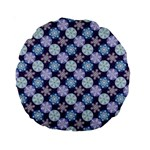 Snowflakes Pattern Standard 15  Premium Round Cushions Front