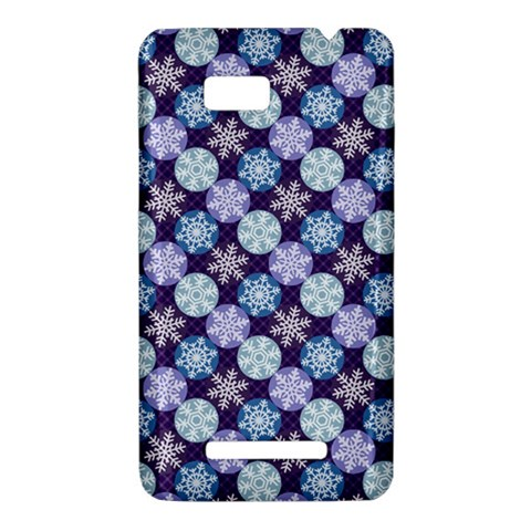 Snowflakes Pattern HTC One SU T528W Hardshell Case