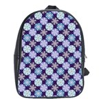 Snowflakes Pattern School Bags (XL)  Front