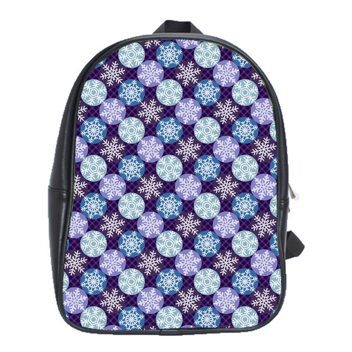 Snowflakes Pattern School Bags (XL)