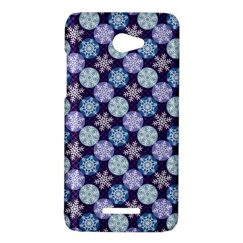Snowflakes Pattern HTC Butterfly X920E Hardshell Case
