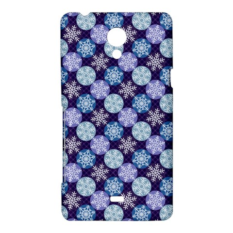 Snowflakes Pattern Sony Xperia T