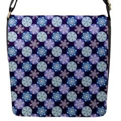 Snowflakes Pattern Flap Messenger Bag (S)