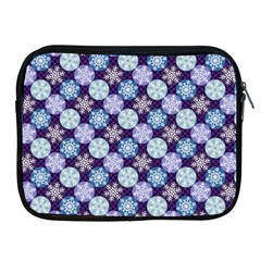 Snowflakes Pattern Apple iPad 2/3/4 Zipper Cases