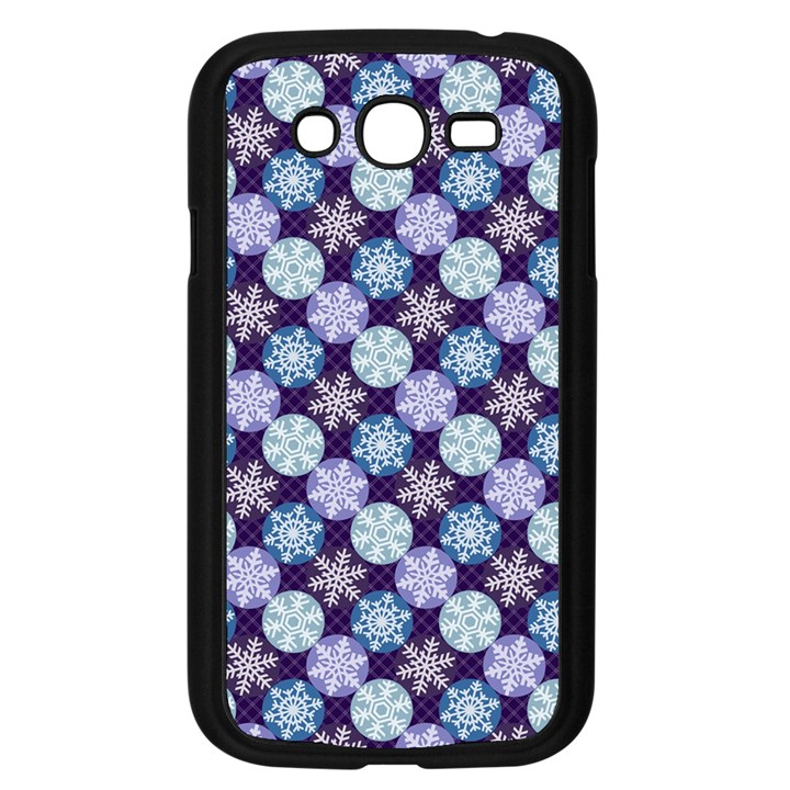 Snowflakes Pattern Samsung Galaxy Grand DUOS I9082 Case (Black)