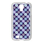 Snowflakes Pattern Samsung GALAXY S4 I9500/ I9505 Case (White) Front