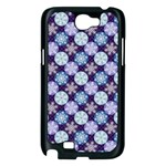 Snowflakes Pattern Samsung Galaxy Note 2 Case (Black) Front