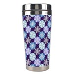 Snowflakes Pattern Stainless Steel Travel Tumblers Left