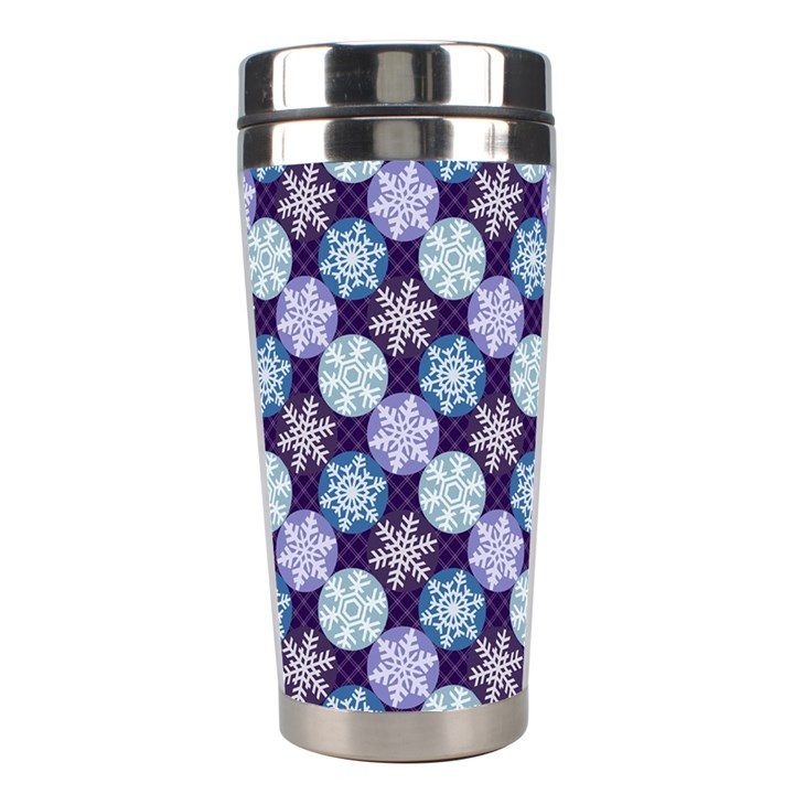Snowflakes Pattern Stainless Steel Travel Tumblers