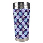 Snowflakes Pattern Stainless Steel Travel Tumblers Center