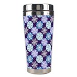 Snowflakes Pattern Stainless Steel Travel Tumblers Right