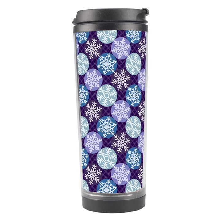 Snowflakes Pattern Travel Tumbler