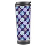Snowflakes Pattern Travel Tumbler Center