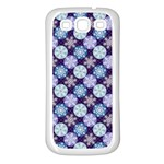 Snowflakes Pattern Samsung Galaxy S3 Back Case (White) Front