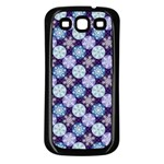 Snowflakes Pattern Samsung Galaxy S3 Back Case (Black) Front