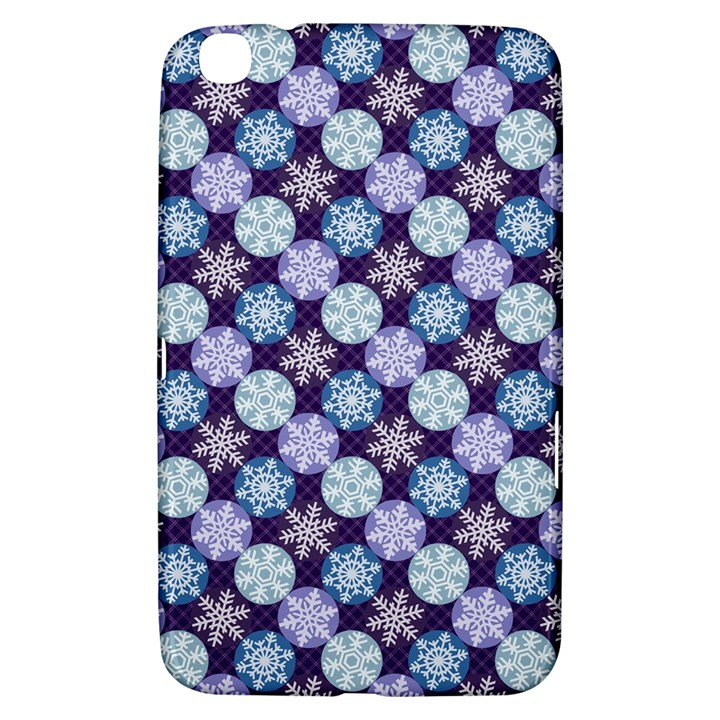 Snowflakes Pattern Samsung Galaxy Tab 3 (8 ) T3100 Hardshell Case