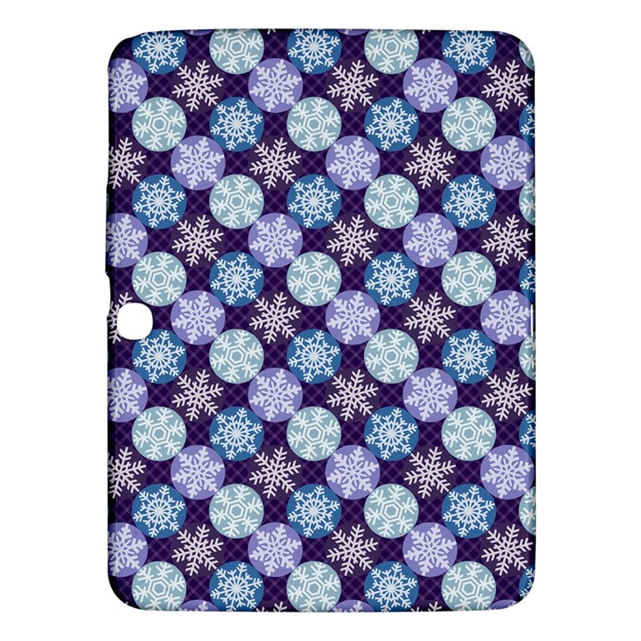 Snowflakes Pattern Samsung Galaxy Tab 3 (10.1 ) P5200 Hardshell Case