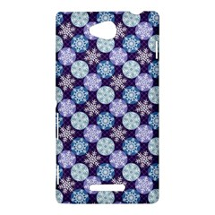 Snowflakes Pattern Sony Xperia C (S39H)