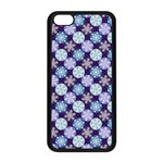 Snowflakes Pattern Apple iPhone 5C Seamless Case (Black) Front