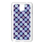 Snowflakes Pattern Samsung Galaxy Note 3 N9005 Case (White) Front